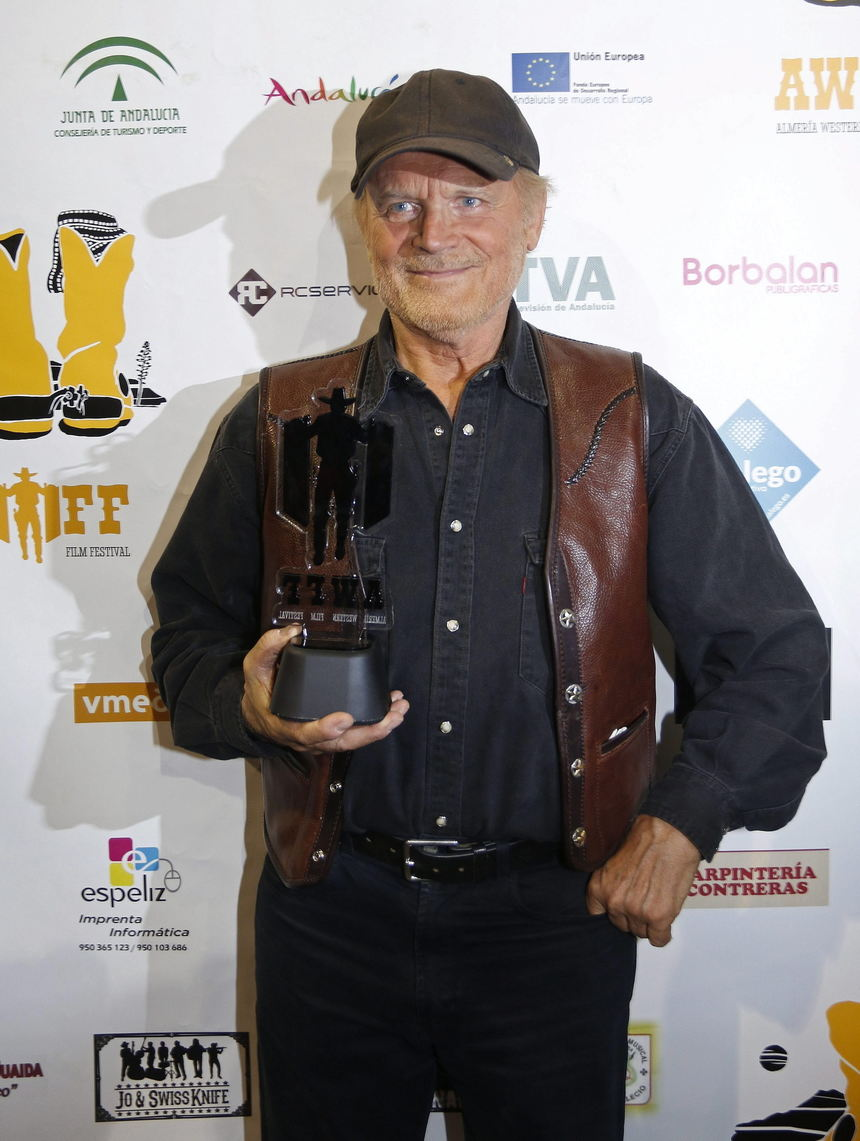 Italian actor Terence Hill receives the Tabernas Film Award