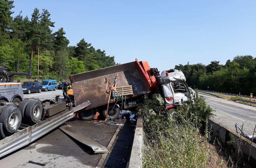 Unfall A67 Gestern