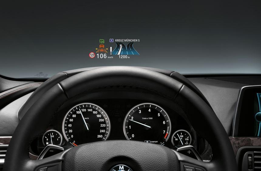 Im BMW 3er gibt es auf Wunsch ein Head-up-Display