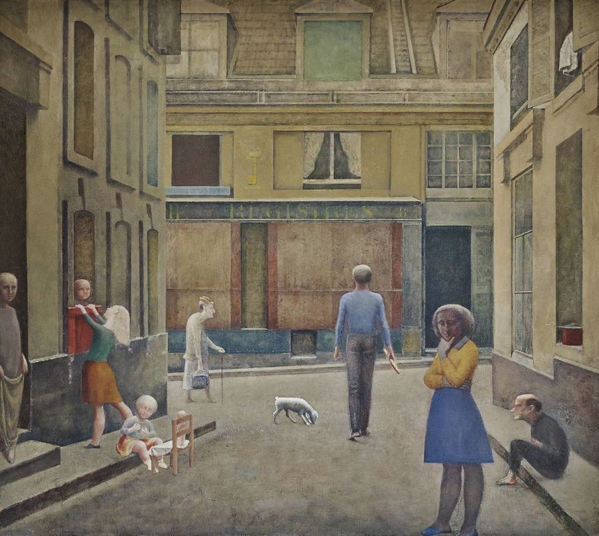 "Die ""Passage du Commerce-Saint-André"" malte Balthus in den Jahren 1952 bis 1954."