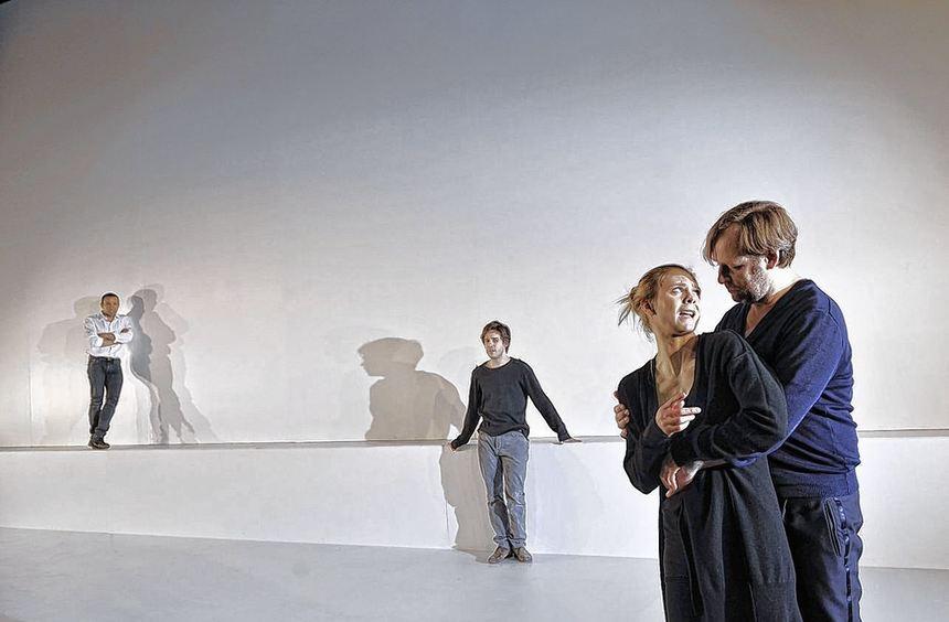 Peter Pearce, Martin Aselmann, Sabine Fürst und Klaus Rodewald (von links) bei den Proben.
