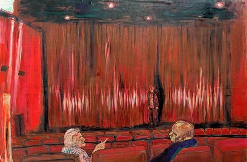 """""""Egocinema"""" heißt dieses Bild von Gustav Kluge, das auch der Ausstellung im Hack-Museum ihren Titel ..."""