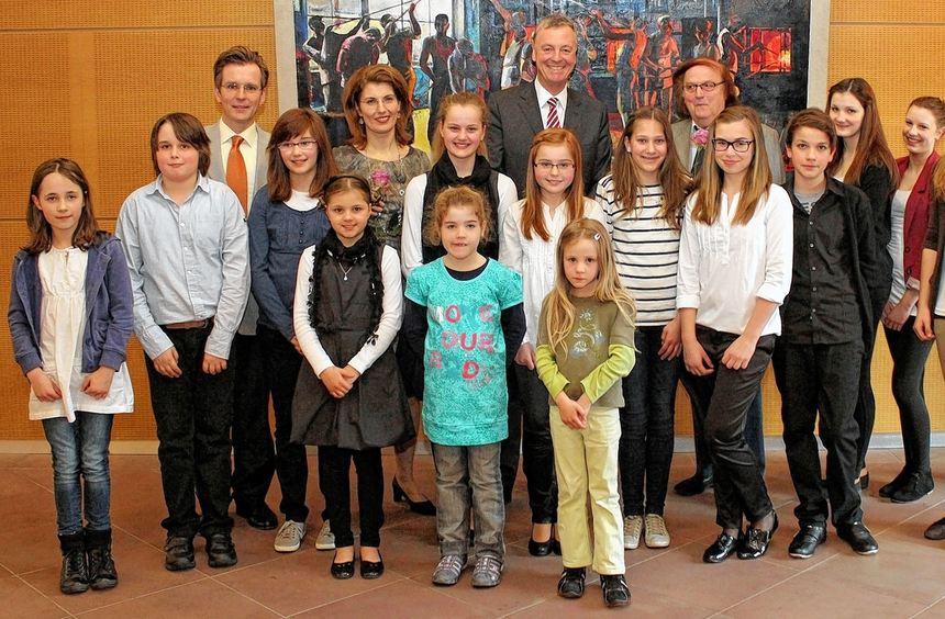 """Die erfolgreichen Teilnehmerinnen und Teilnehmer des Regionalwettbewerbs """"Jugend musiziert"""" ..."""
