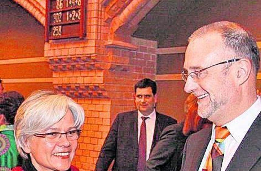 Barbara Kohlstruck und Michael Gärtner (r.) in der Apostelkirche.