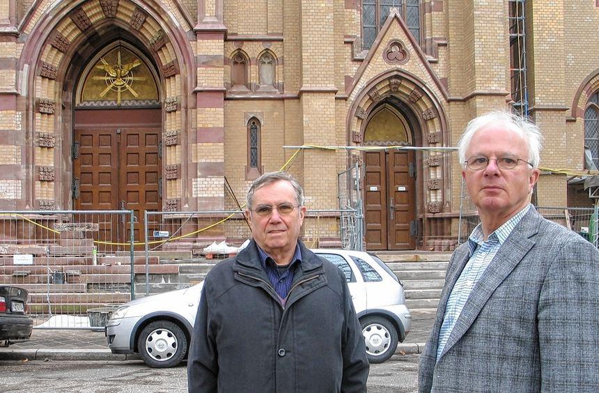 Noch laufen die Arbeiten auf Hochtouren. Bis zum Katholikentag soll die Heilig-Geist-Kirche in ...