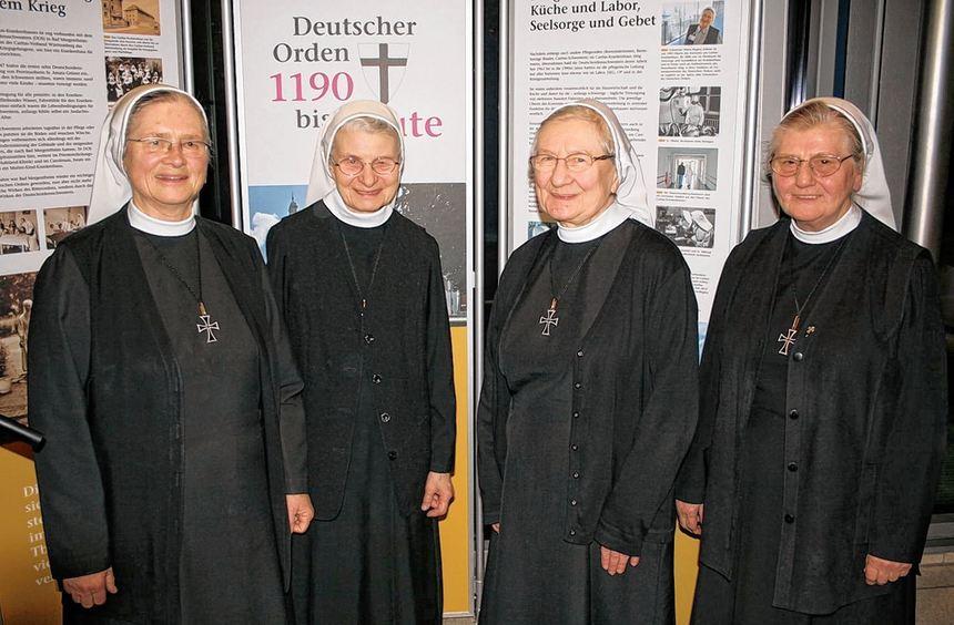 Vier Deutschordensschwestern wirken auch heute noch am Caritas-Krankenhaus (von links): Schwester ...