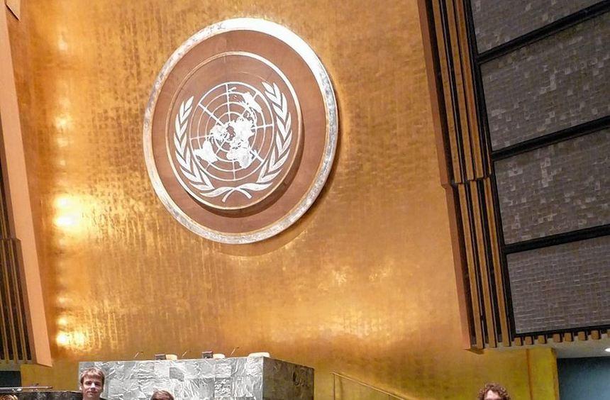 Schüler des AKG nahmen an einer Konferenz der Vereinten Nationen in New York teil. Die Jugendlichen ...