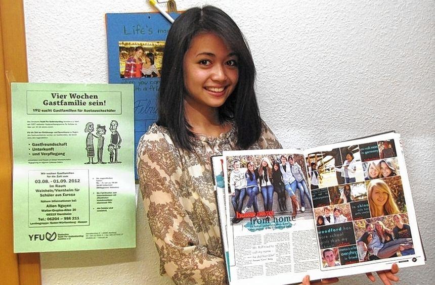 Gastgeber für ausländische Schüler sucht Ailien Nguyen als ehrenamtliche Mitarbeiterin einer ...
