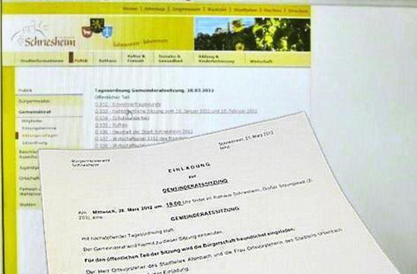 Die Gemeinderatsunterlagen sind fortan im Internet abrufbar.