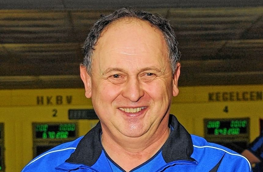 Alfred Kauf von der zweiten SC/KC-Mannschaft zählt zu den verdienstvollsten Bens-heimer ...