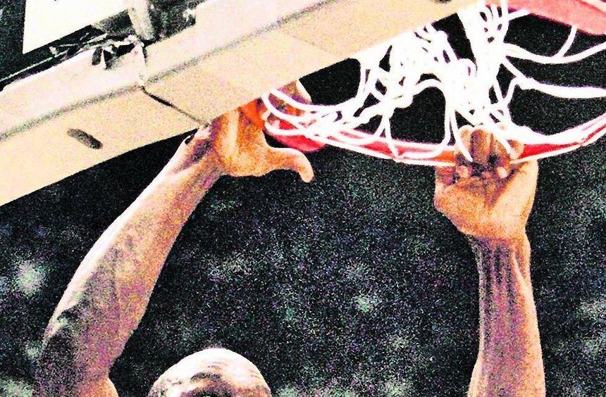Ein Bild aus besseren Tagen: Ein jubelnder Michael Jordan im Trikot der Chicago Bulls nach einem ...