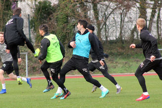 Beim Training.