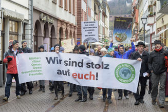 """Fridays for Future"" auch in Heidelberg."