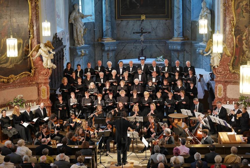 Der Bad Mergentheimer Kammerchor in Aktion.