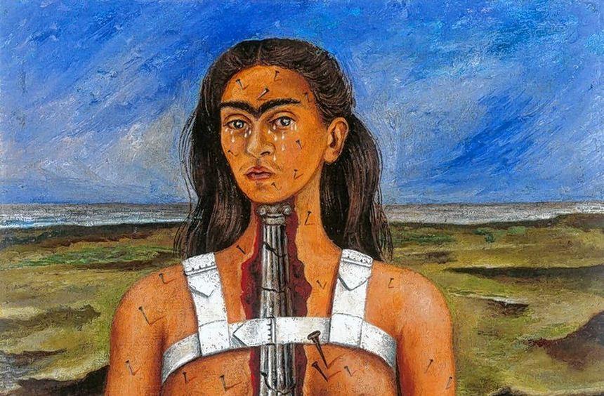 """Kampfansage an das eigene Leid und die Krankheit: """"Die zerbrochene Säule"""" von Frida Kahlo aus dem ..."""