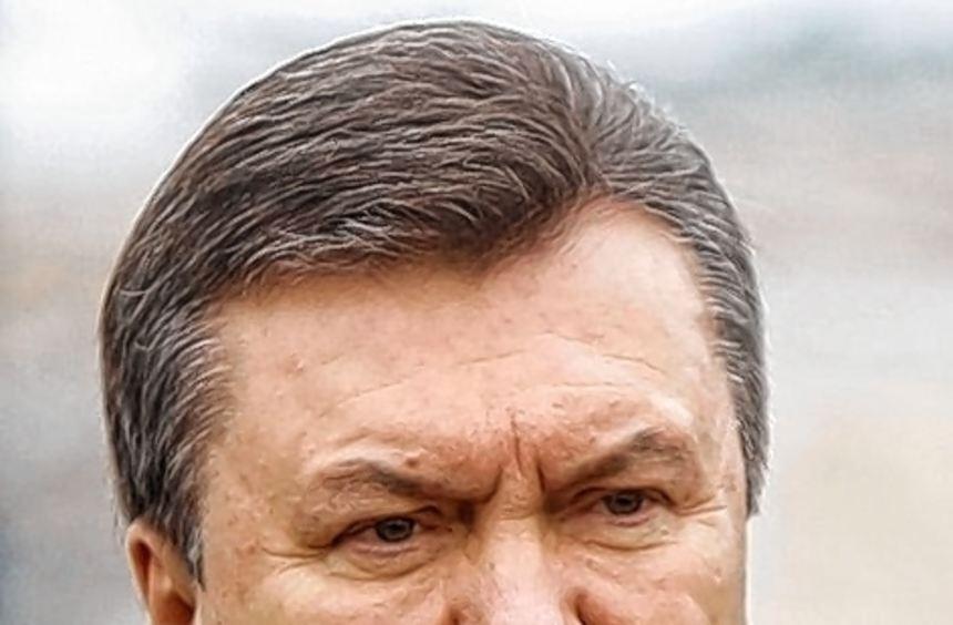 Wirkt meist hölzern: der ukrainische Staatschef Viktor Janukowitsch.