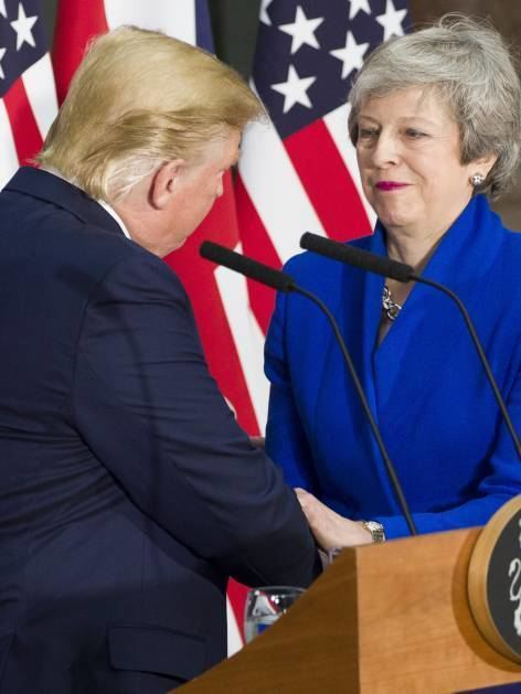Premierministerin Theresa May mit US-Präsident Donald Trump.