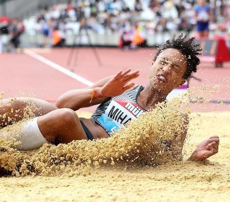 Malaika Mihambo beim Diamond-League-Meeting in London.