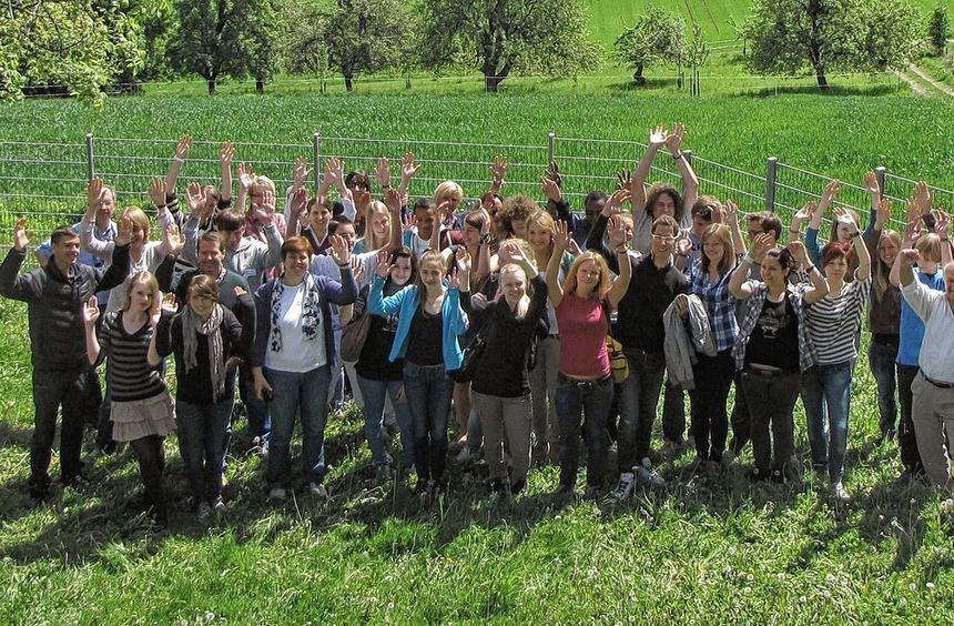 27 Jugendliche aus sieben Nationen, darunter auch Schüler des Goethe-Gymnasiums und des Schuldorfs, ...