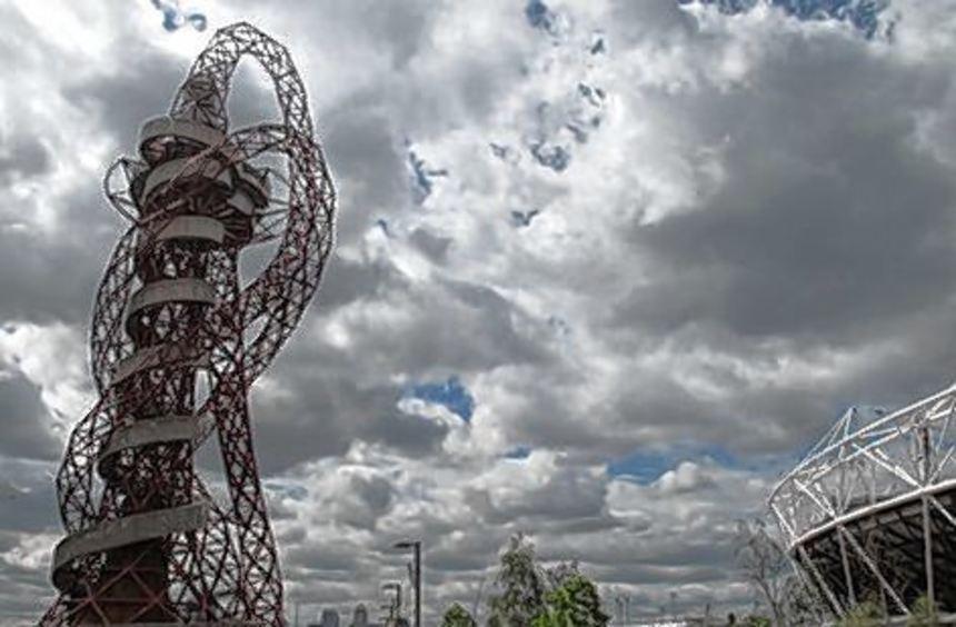 """""""Orbit"""", architektonisches Wahrzeichen der Olympischen Spiele London."""