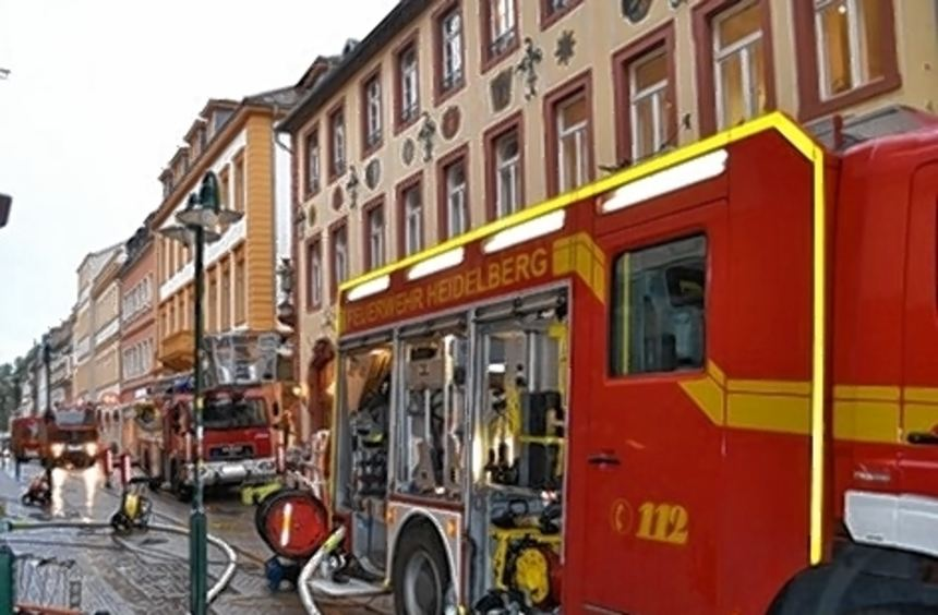 Die Berufsfeuerwehr Heidelberg hatte den Brand schnell gelöscht.