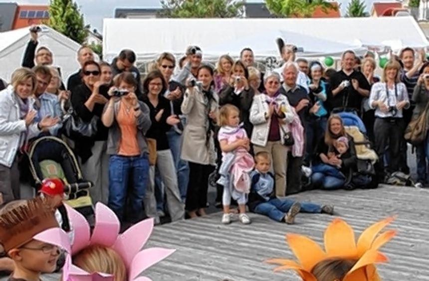 Der Kindergarten Sonnenblume erfreute die Zuschauer 2010 beim Fest.