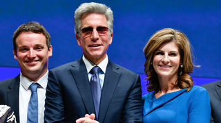 Von links: Christian Klein, Bill McDermott, Jennifer Morgan.