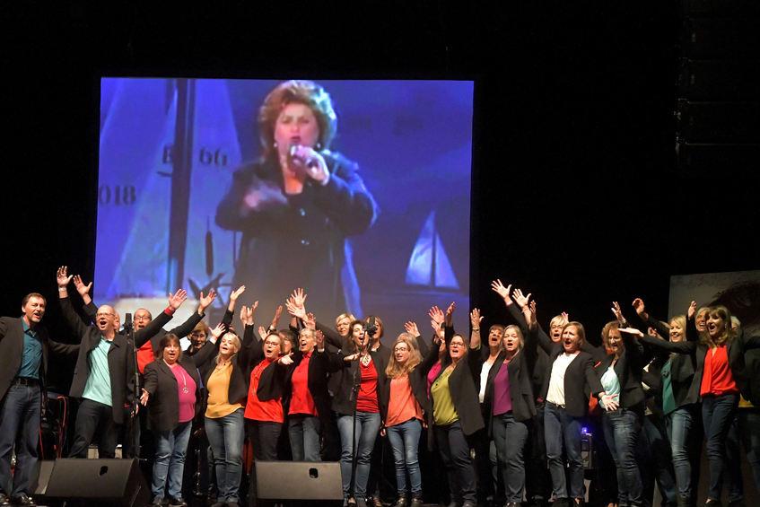 Neben den Finalisten gestalteten auch zahlreiche andere Künstler den Abend mit. So trat auch der der junge Chor Hohensachsen im Capitol auf.