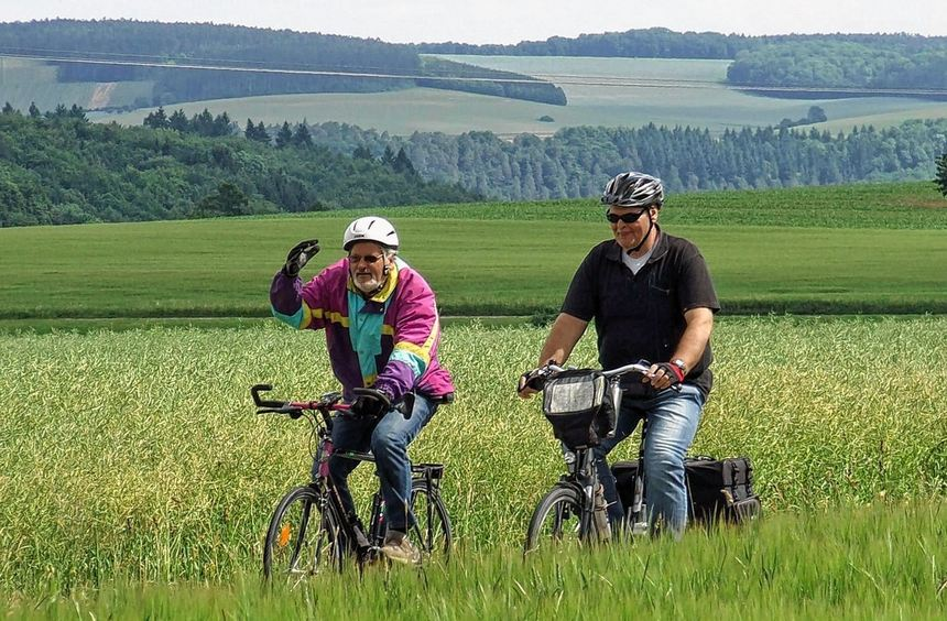 Die Landschaft genossen die Teilnehmer beim 17. Külsheimer Radsonntag. Aber auch die sportlich ...