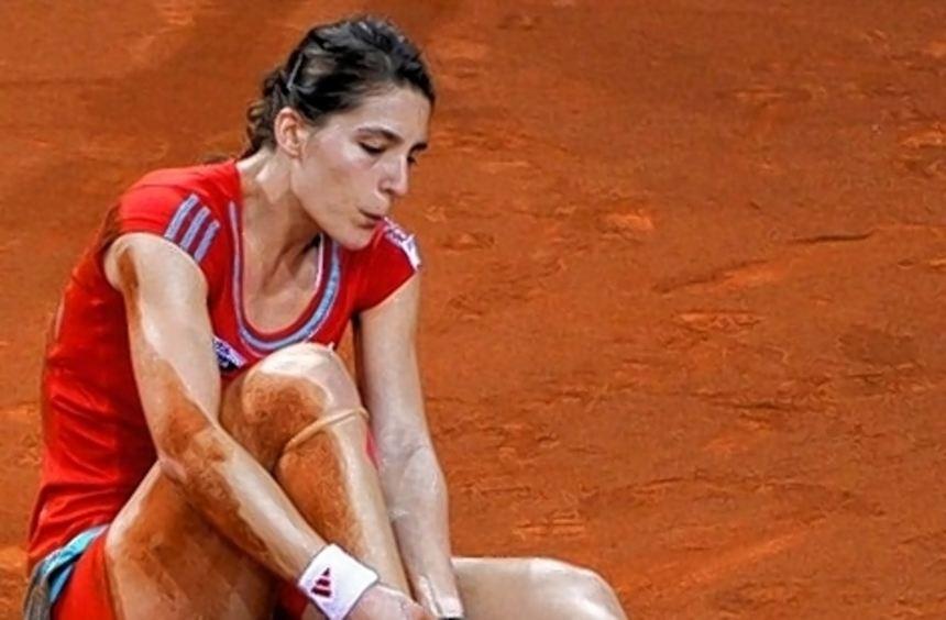 In Stuttgart erwischte es Andrea Petkovic am rechten Knöchel.
