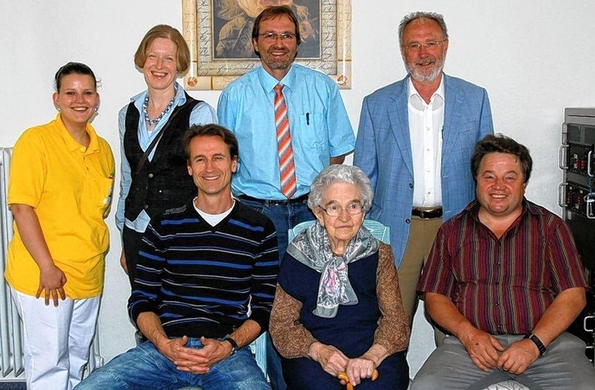 Ihren 90. Geburtstag feierte Maria Grotmeier jüngst im Seniorenzentrum Gerlachsheim im Kreis der ...