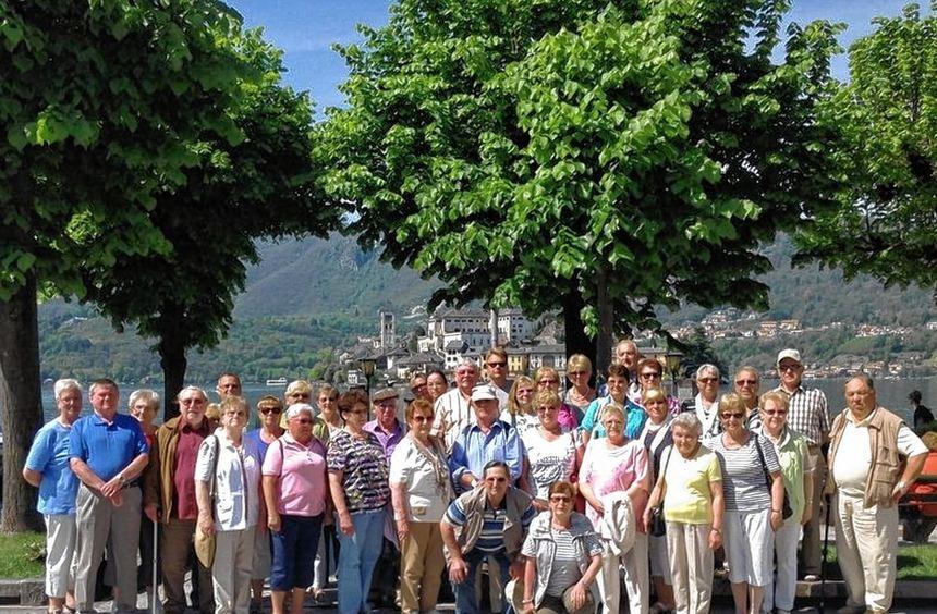 Die Reisegruppe des Clubs der Busfreunde genoss die Tage am Lago Maggiore.