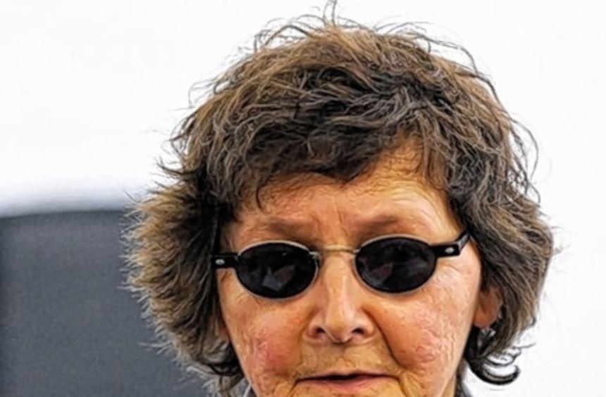 Die ehemalige RAF-Terroristin Verena Becker gestern vor Gericht.