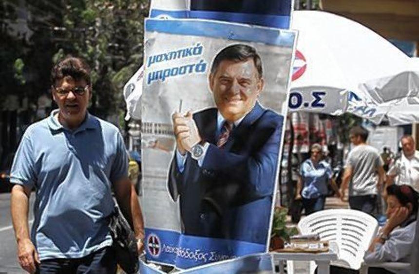 Wahlplakate in Athen: Die Umfragen verheißen nichts Gutes.