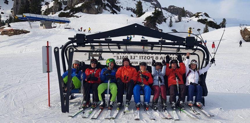 In Südtirol erkundeten die Skifahrer der TSV Auerbach die teils anspruchsvollen Abfahrten.