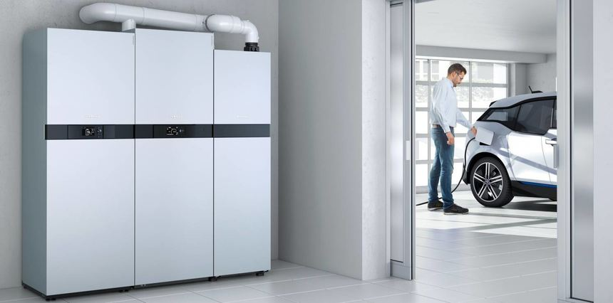 Mit einer Brennstoffzelle zieht die Zukunft in das Zuhause der Kunden ein