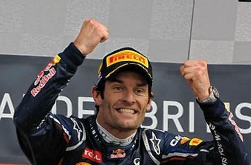 Mark Webber bejubelte am Sonntag den Sieg in Silverstone.