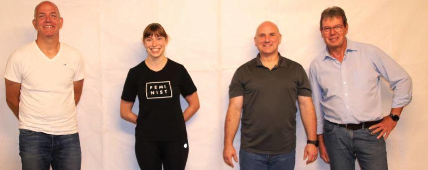 TV-Vorstand: Andreas Röß, Celine Rosenberger, Steven King und Jürgen Litters.