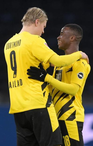Neues BVB-Duo: Erling Haaland (l.) und Youssoufa Moukoko.