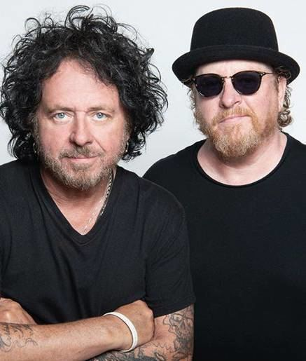 "Steve ""Luke"" Lukather und Joseph Williams von der Band Toto."