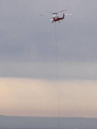 Hubschrauber über Viernheim