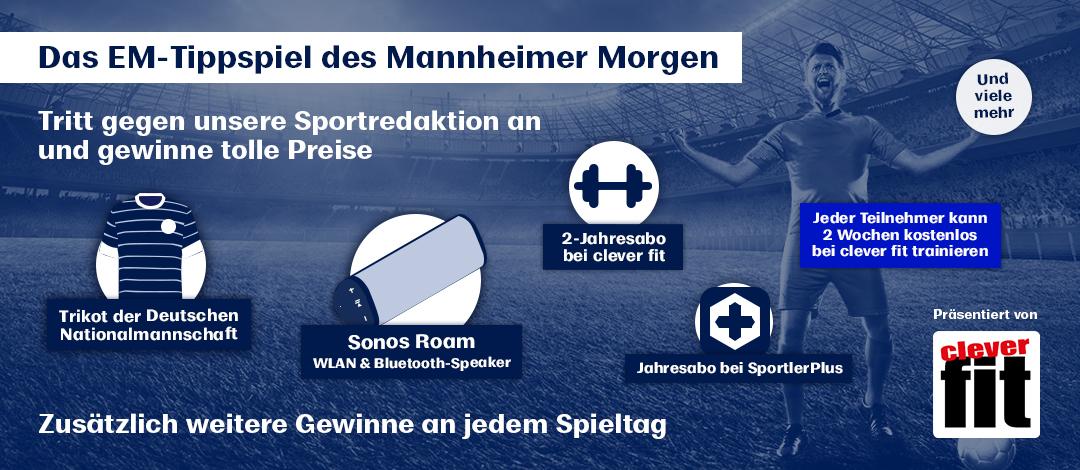 Das EM-Tippspiel des Mannheimer Morgen. Jetzt mittippen und gewinnen.