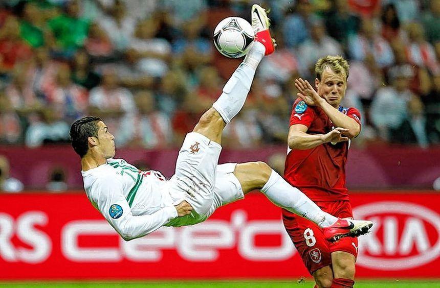 Cristiano Ronaldo bei der EM 2012 in Polen und der Ukraine.