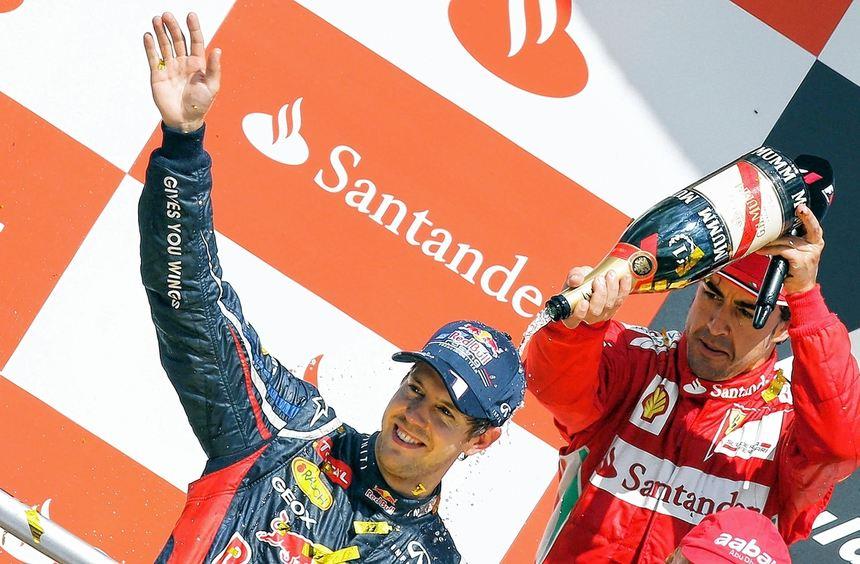 Sebastian Vettel hat den WM-Hattrick im Blick - sein letzter verbliebener Rivale ist Fernando ...