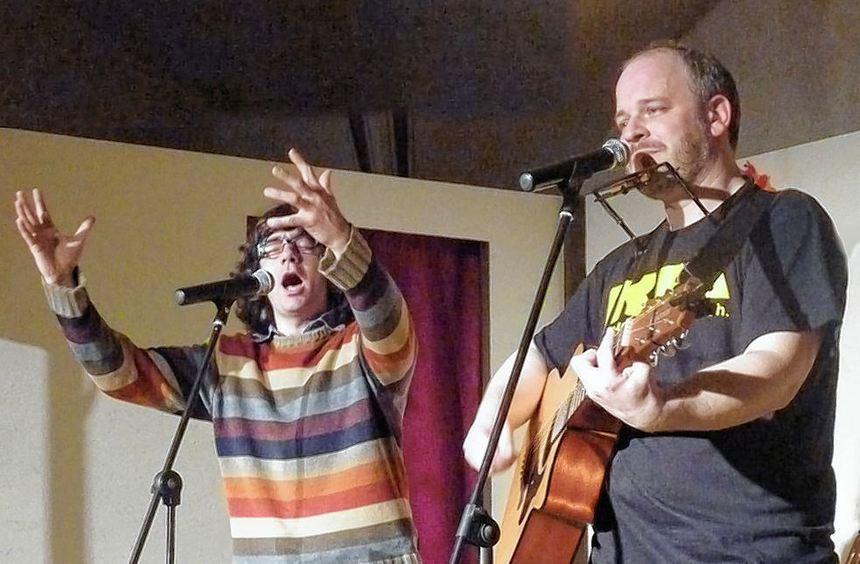 """""""Doppelkopf"""": Alex Entzminger (rechts) und Markus Schneider."""