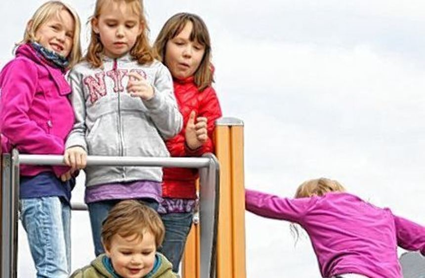 Der neue Kinderspielplatz im Neubaugebiet Sonneneck.
