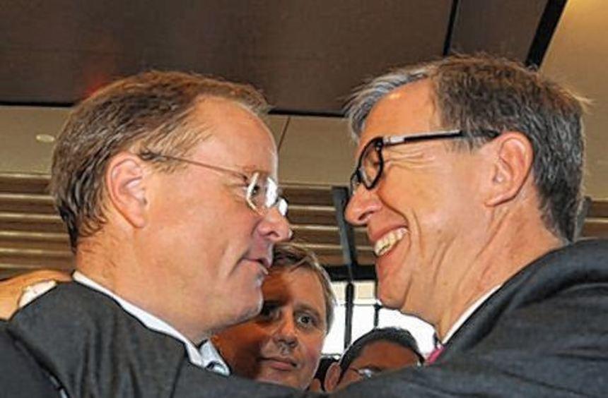 Parteifreunde: Walter Döring (rechts) und Minister Dirk Niebel.