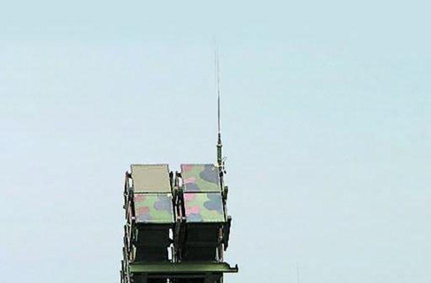 """""""Patriot""""-Raketenabwehrsystem der Bundeswehr bei einer Übung."""