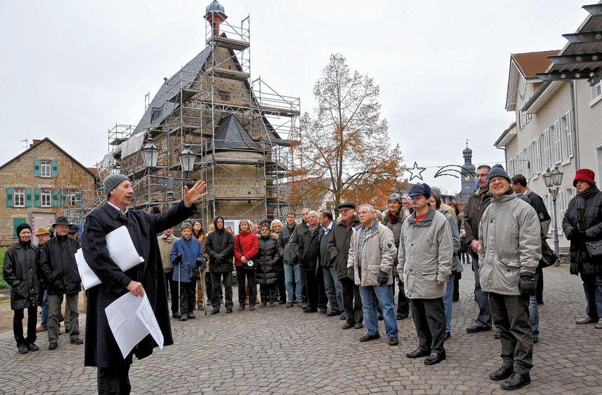 Viele interessierte Zuhörer fand die letzte Baustellenführung dieses Jahres auf dem Gelände des ...