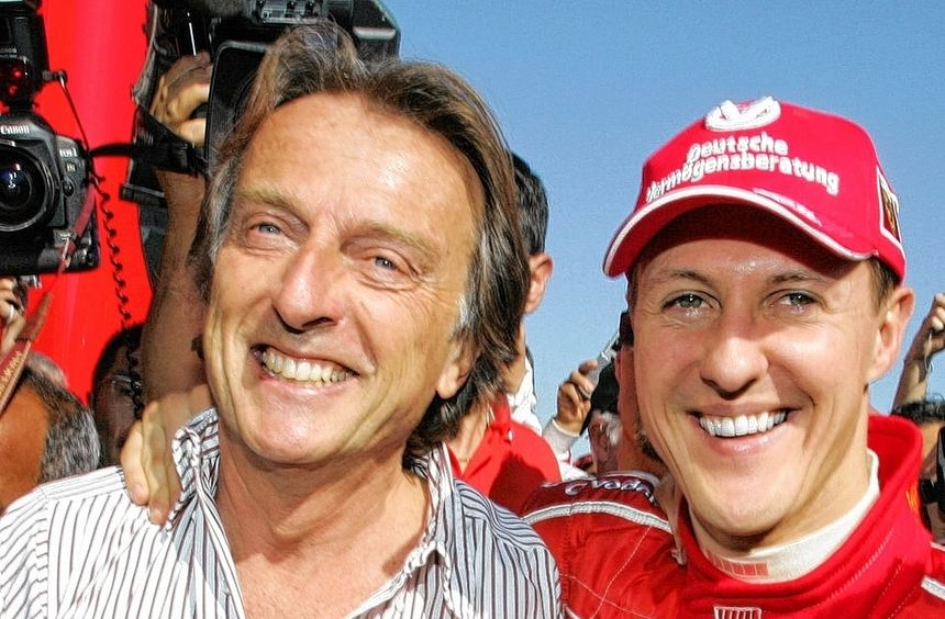 Ein Bild aus harmonischeren Tagen: Ferrari-Chef Luca di Montezemolo und sein einstiges Paradepferd ...